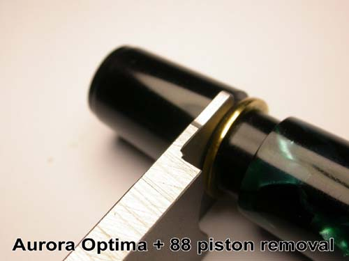 AURORA OPTIMA and 88 FOUNTAIN PEN PISTON REMOVAL TOOL